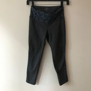 Athleta XS Yoga Pants with Side Detail and Logo